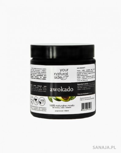 Masło z awokado 100ml - Your Natural Side