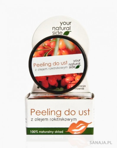 Peeling do ust z olejem rokitnikowym - Your Natural Side
